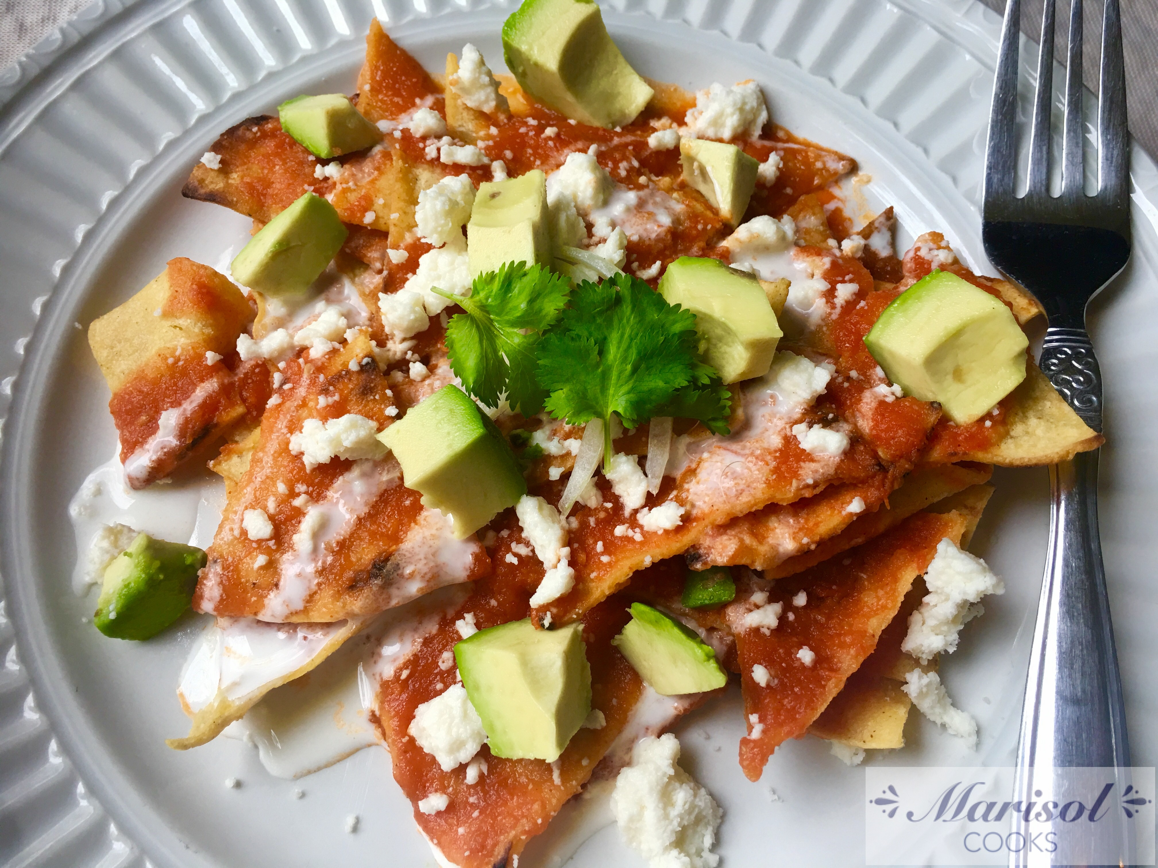 Chilaquiles Rojos/ Red Chilaquiles