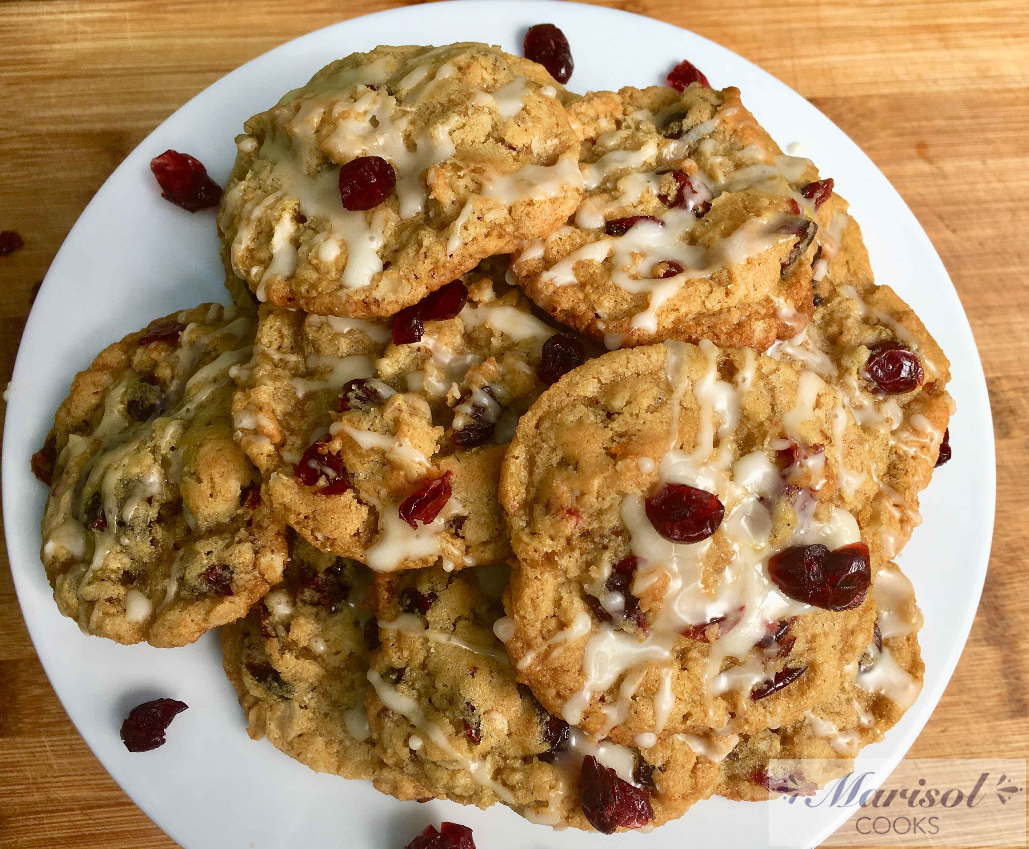 Orange and Cranberry Oatmeal Cookies