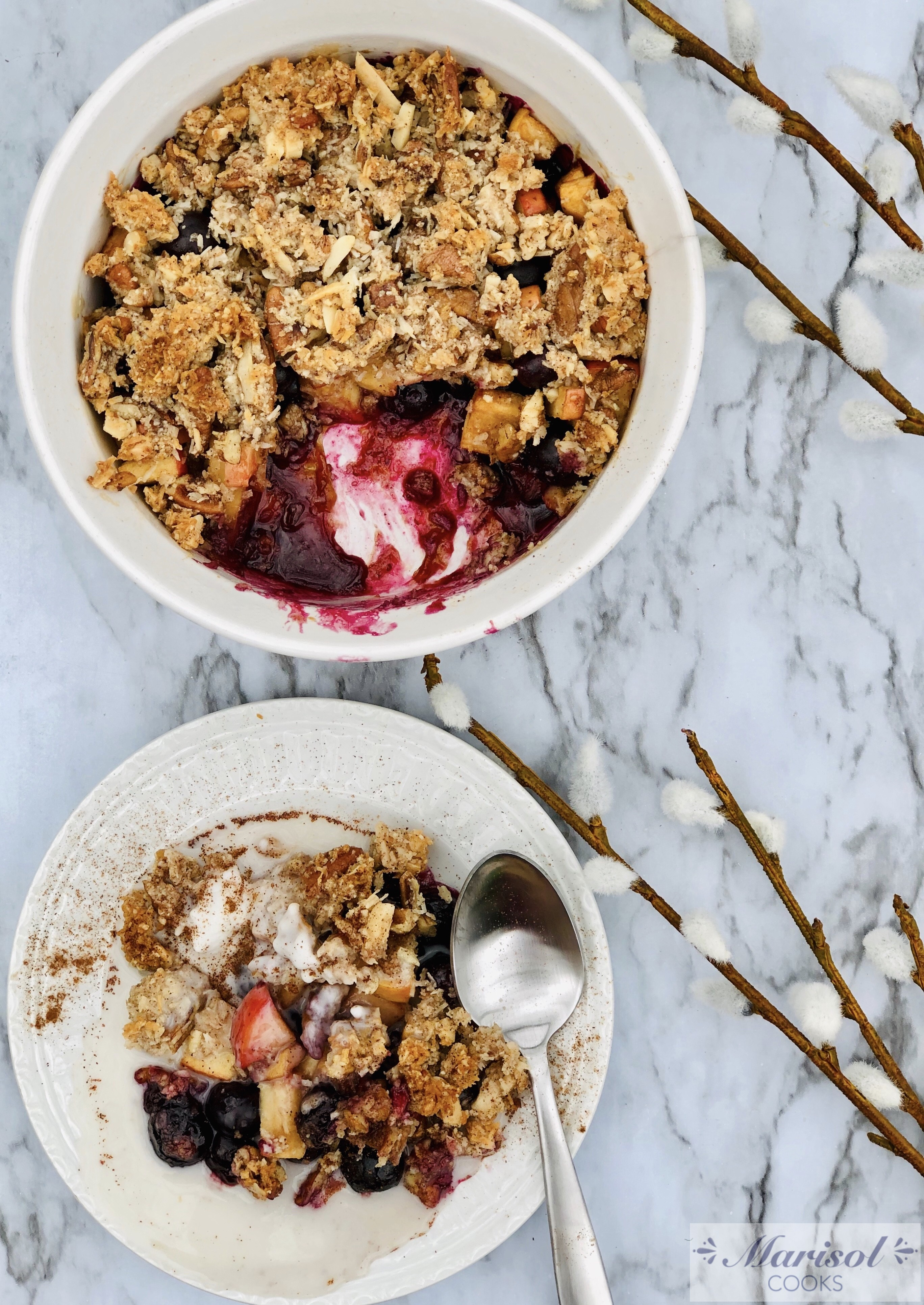 Blueberry and Apple Crumble