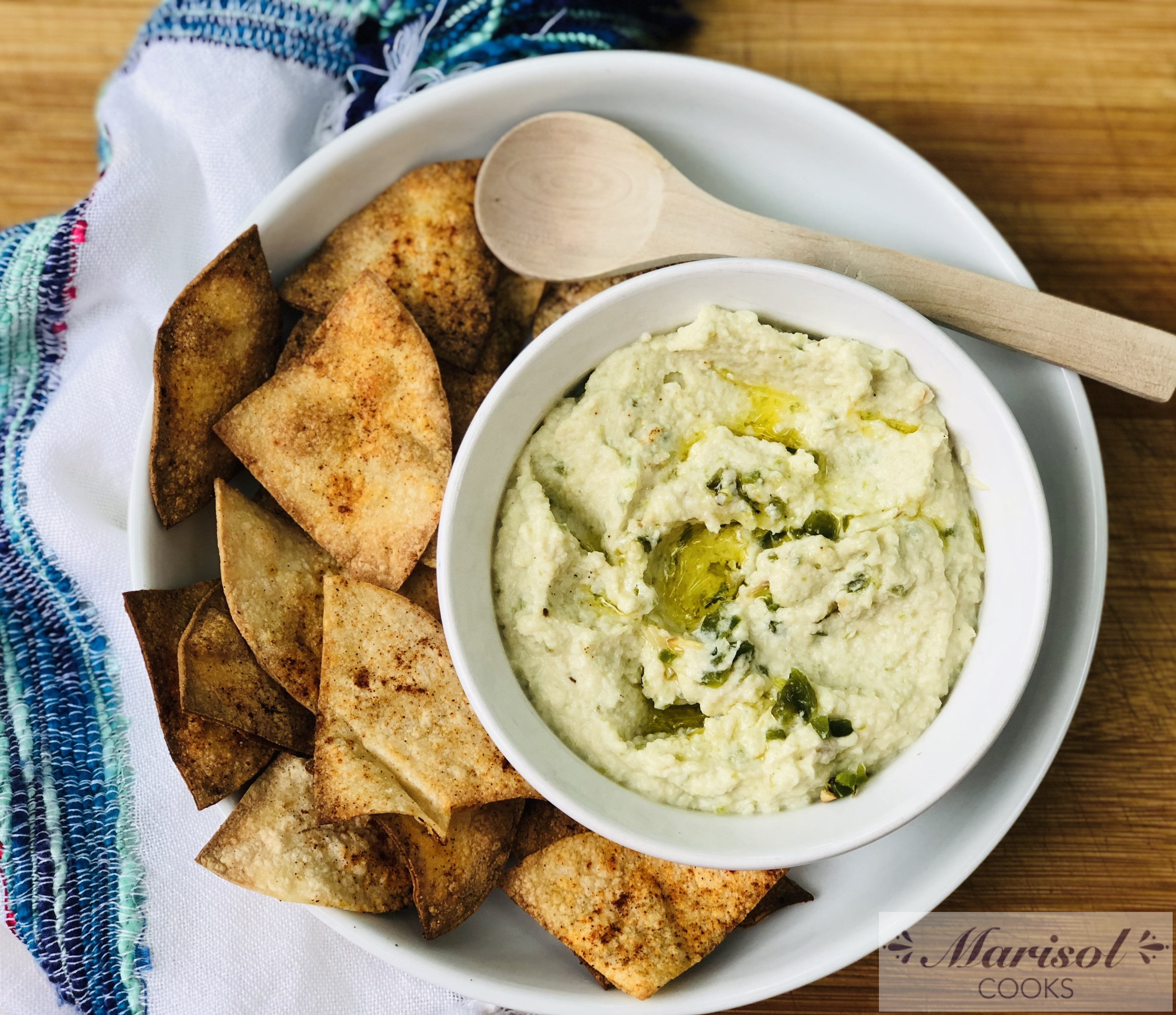 Roasted Garlic and Jalapeño Hummus (Cauliflower)