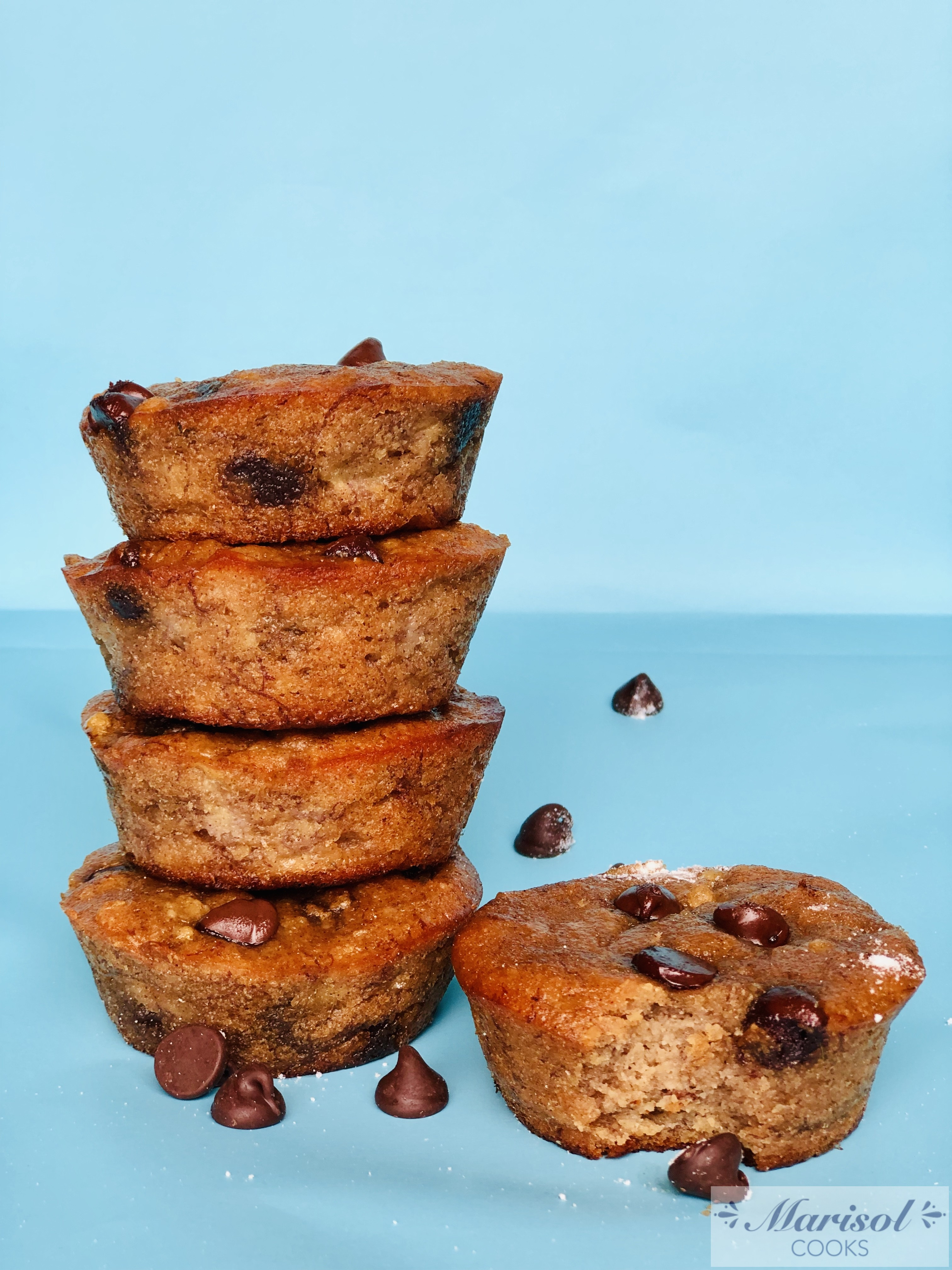 Peanut butter and Chocolate Chip Banana muffins