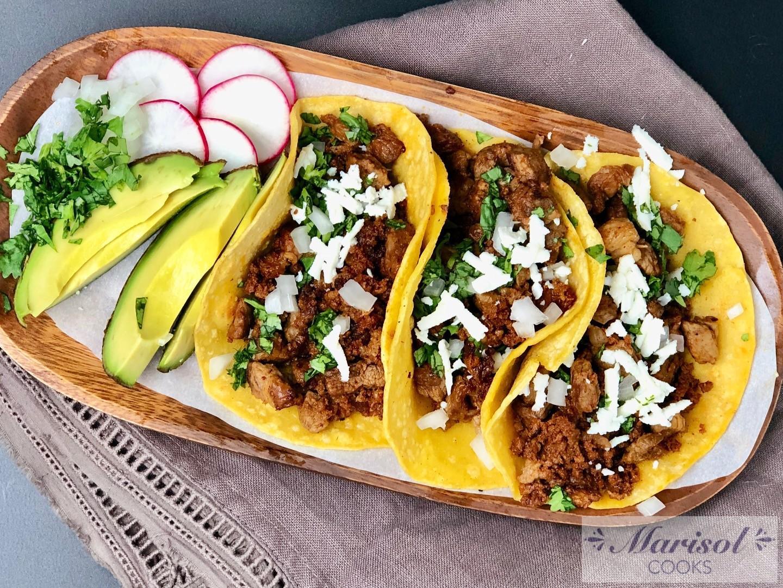 Steak and Chorizo Tacos