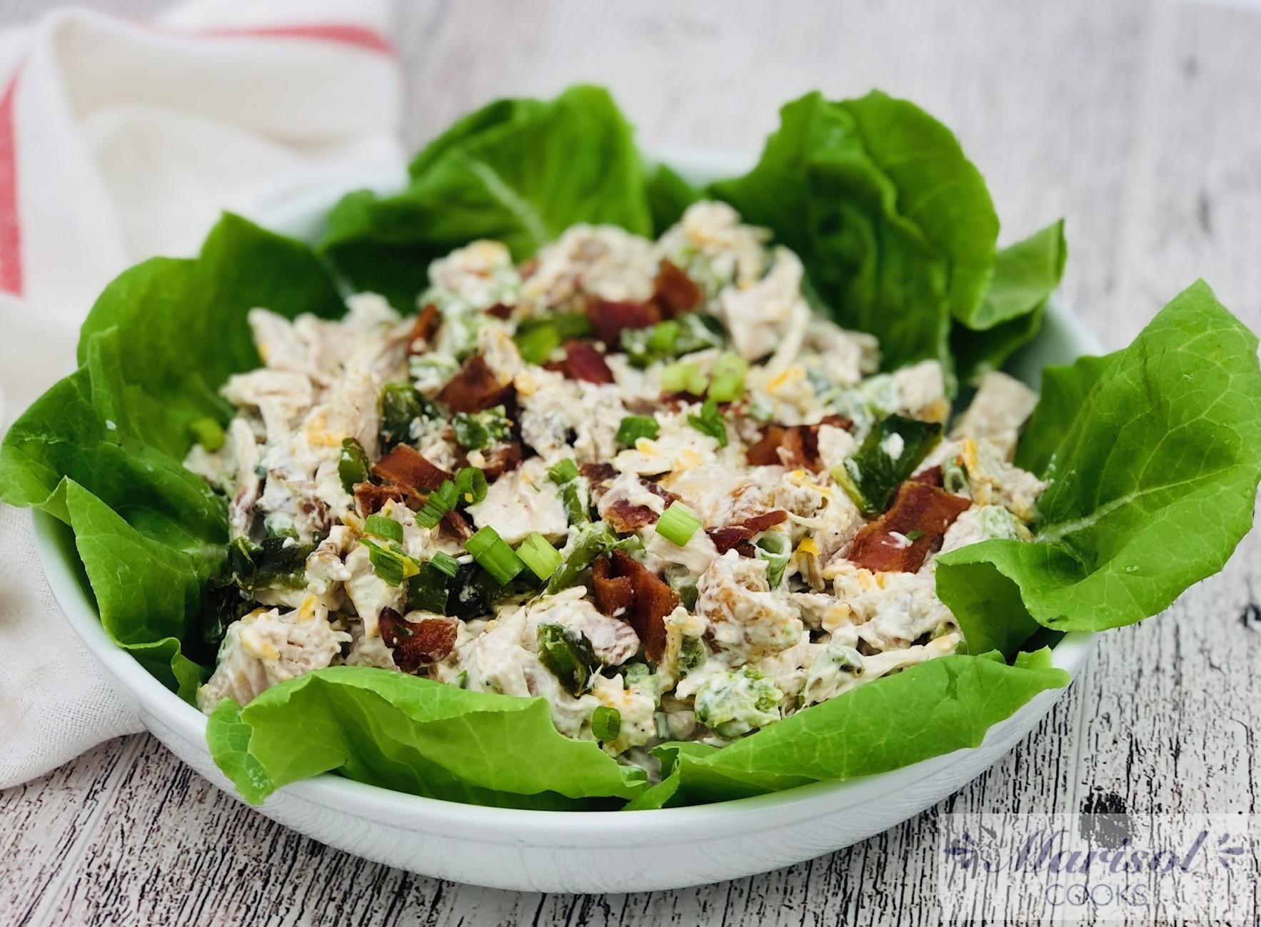 Jalapeño popper Chicken Salad/Low Carb