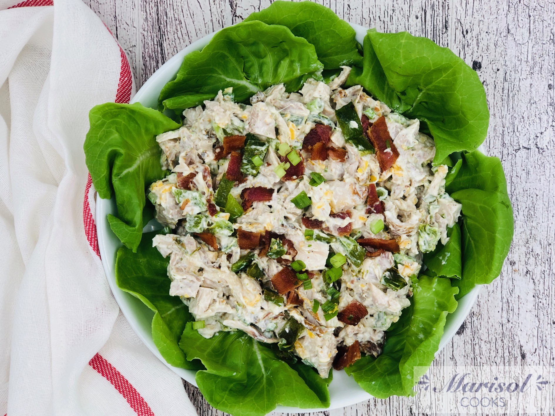 Jalapeño popper Chicken Salad/Low Carb
