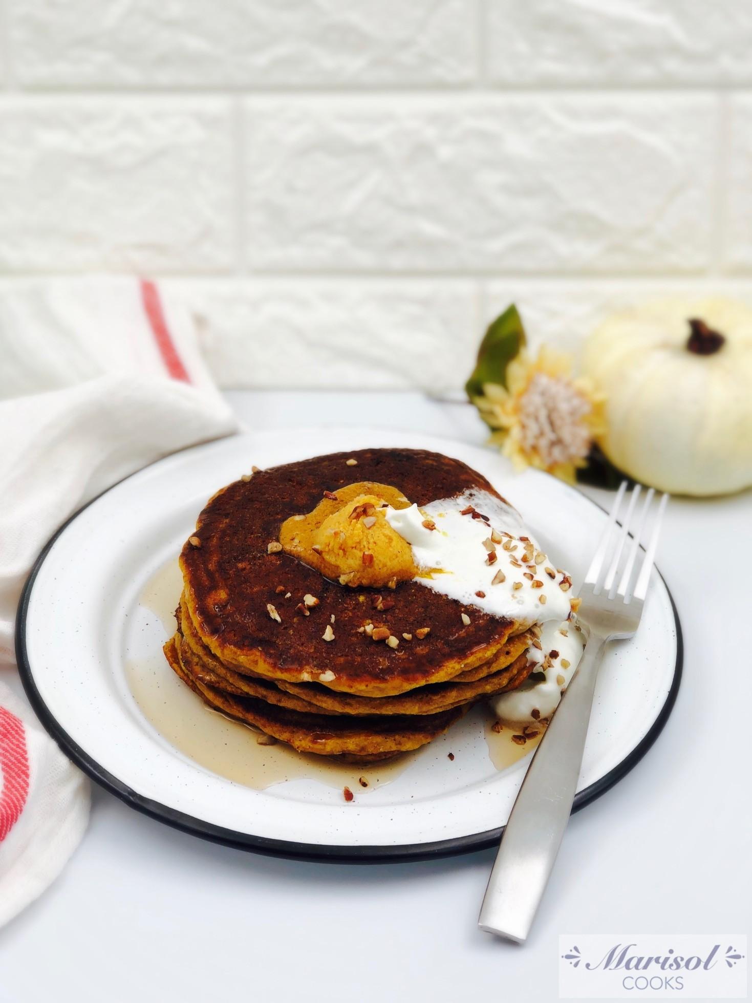 Pumpkin Pecan Pancakes (Gluten free)