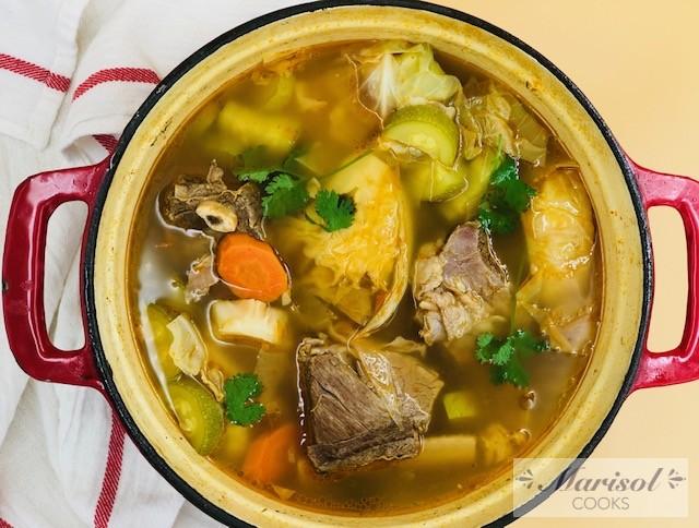 Caldo De Res Beef Caldo Marisol Cooks