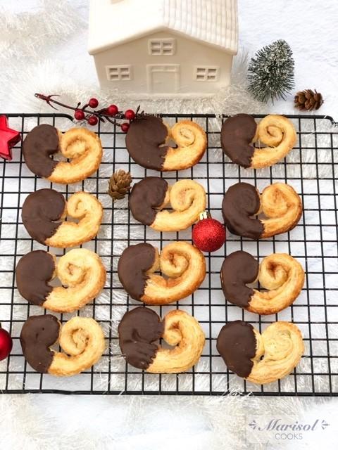 Orejitas con Chocolate (Chocolate Palmiers)