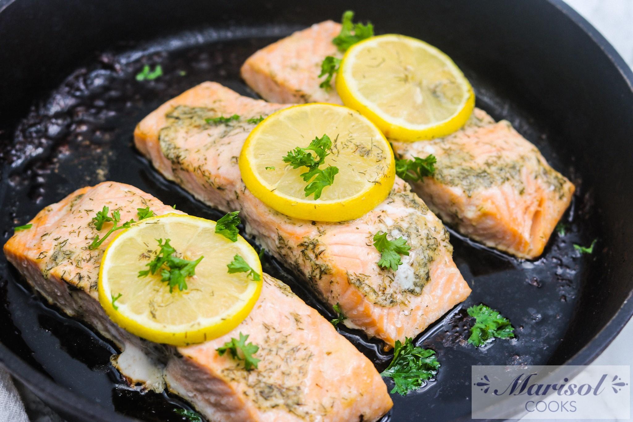Lemon Butter Baked Salmon