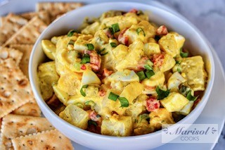 Potato and Egg Salad with Roasted Red Pepper