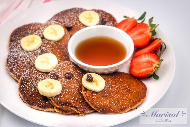 Oatmeal Banana Pancake with Chocolate Chips