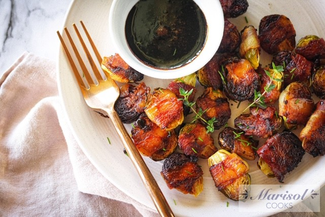 Brussels Sprouts Wrapped in Bacon