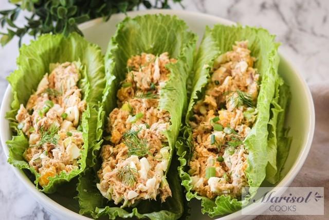 Tuna Egg Salad Boats
