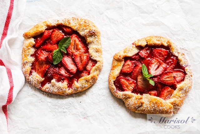 Strawberry Galettes for Two