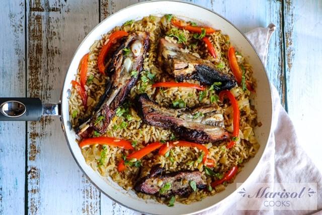 Rice and Ribs/ Arroz con Costillas. Left Over Make Over