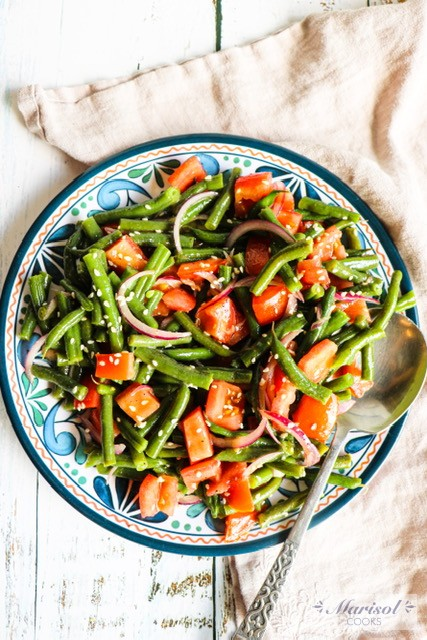 Green Bean Salad with Tahini Dressing