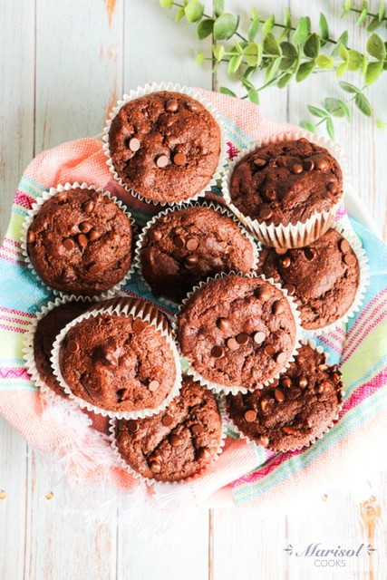 Mexican Chocolate Banana Muffins/ Paleo