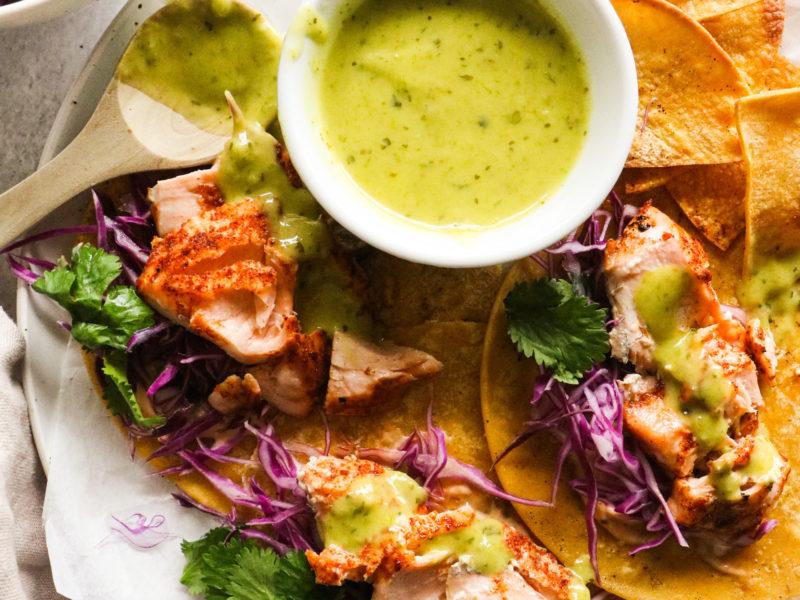 Chili Lime Salmon Tacos