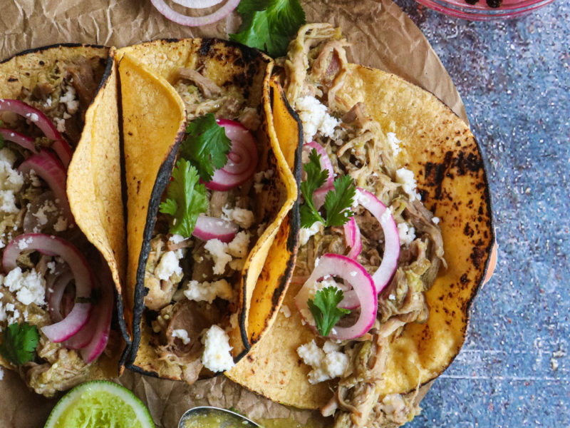 Green Pork Tacos/ Salsa Verde Pork Tacos