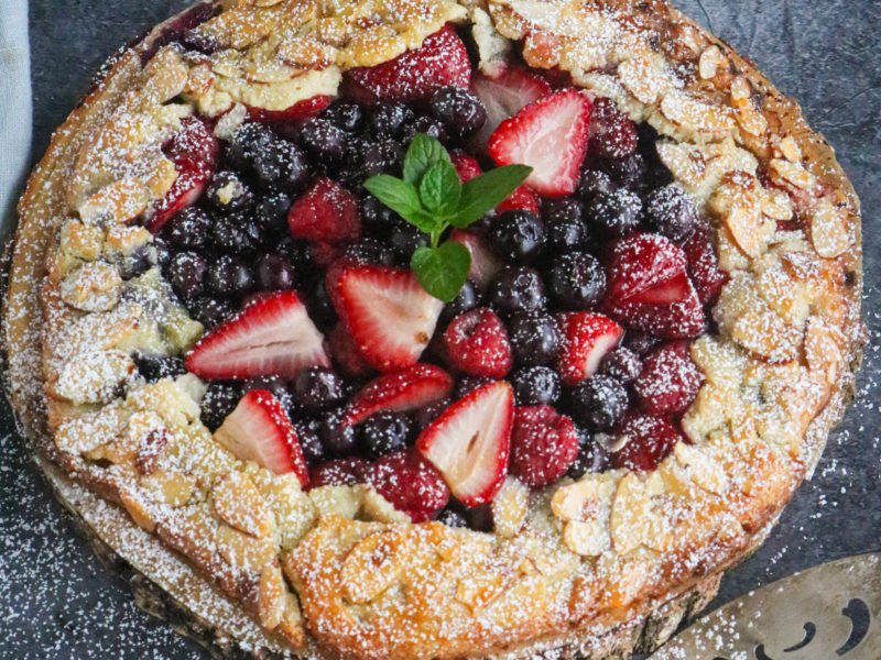 Triple Berry Almond Galette