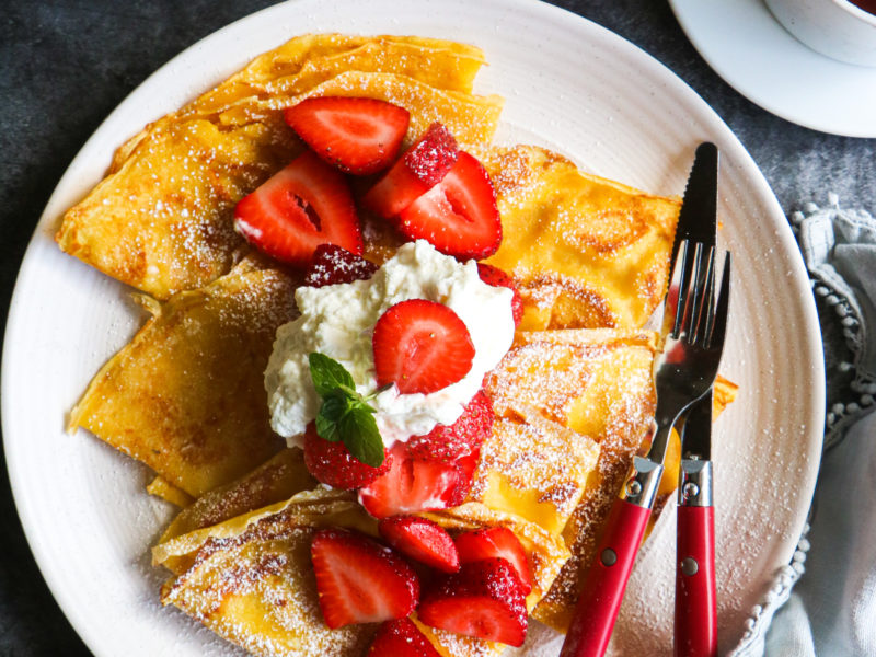 Easy Corn Flour Crepes