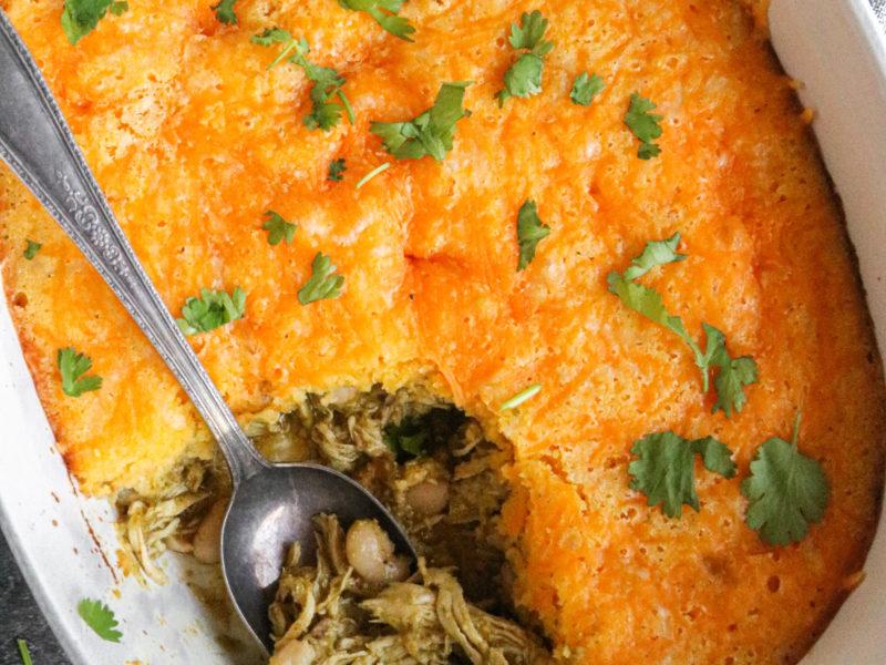 Green Chicken Tamale Pie