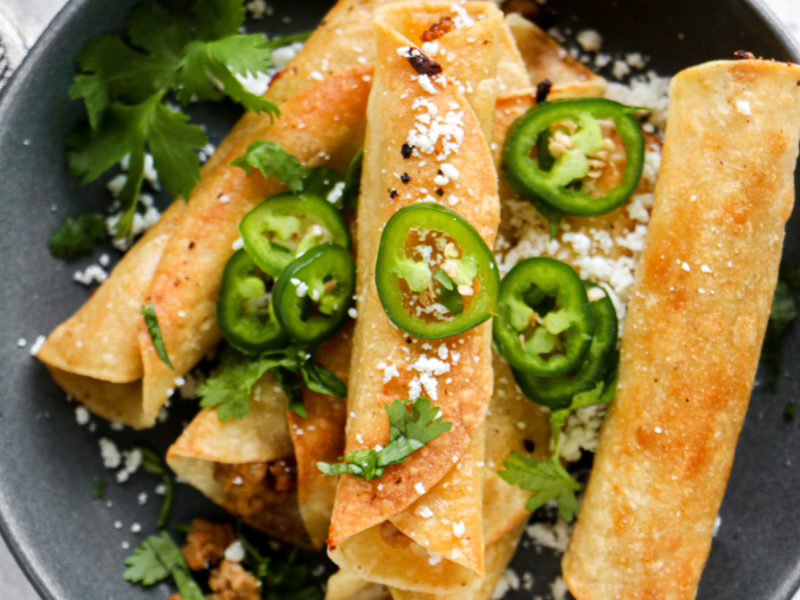 Turkey and Cheese Taquitos