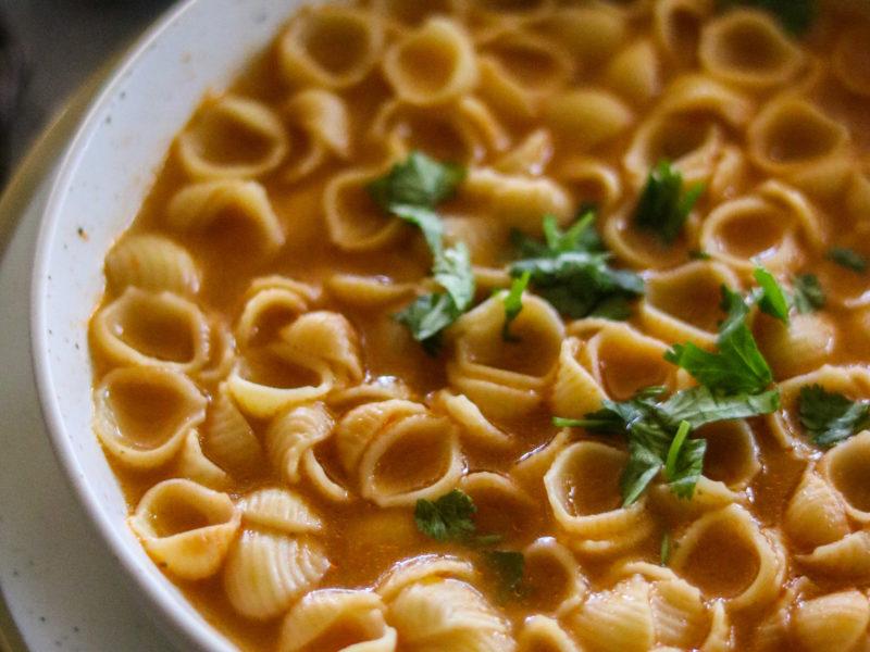 Sopa de Conchitas/ Pasta Shells Soup